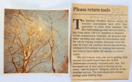 1986—Radiosonde in Tree