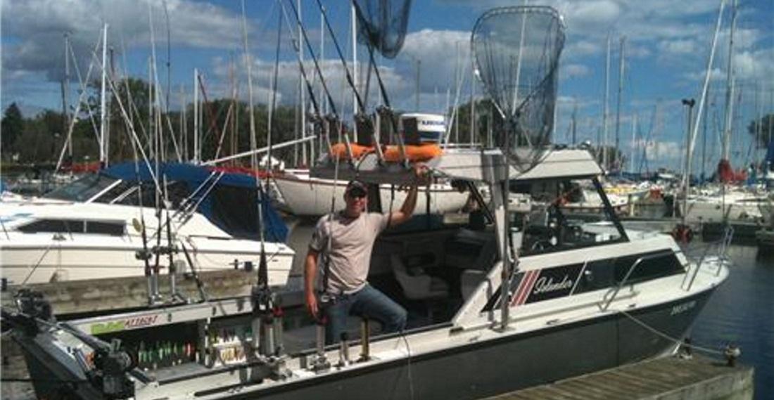 American shad fishing on Sylvainfishon boat