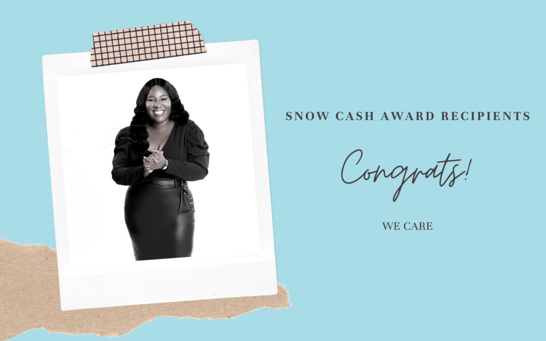 SNOW Cash Award Recipients