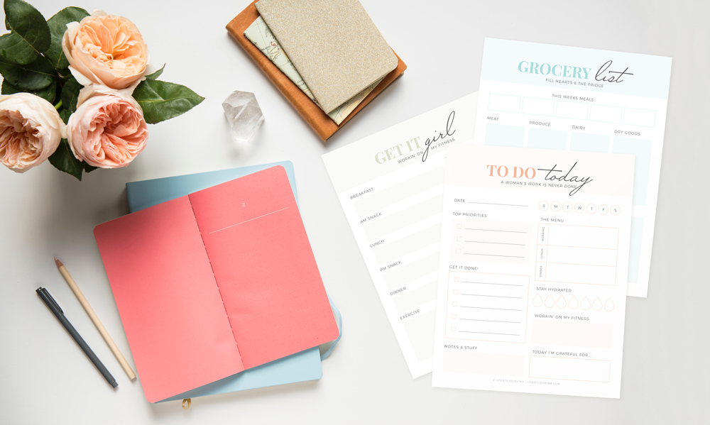 lifestyled by me organization free printables bundle preview featured