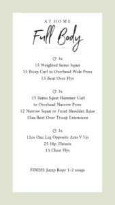 Free at home full body workout