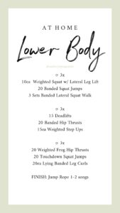 LifeStyledByME free at home lower body workout