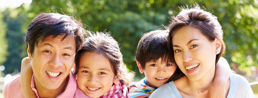 Lotus Behavioral Health family service page top banner