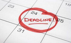 Goal deadline