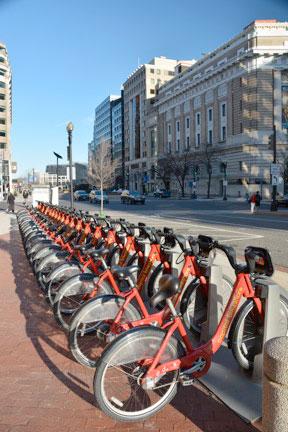 Downtown Washington DC Bikes