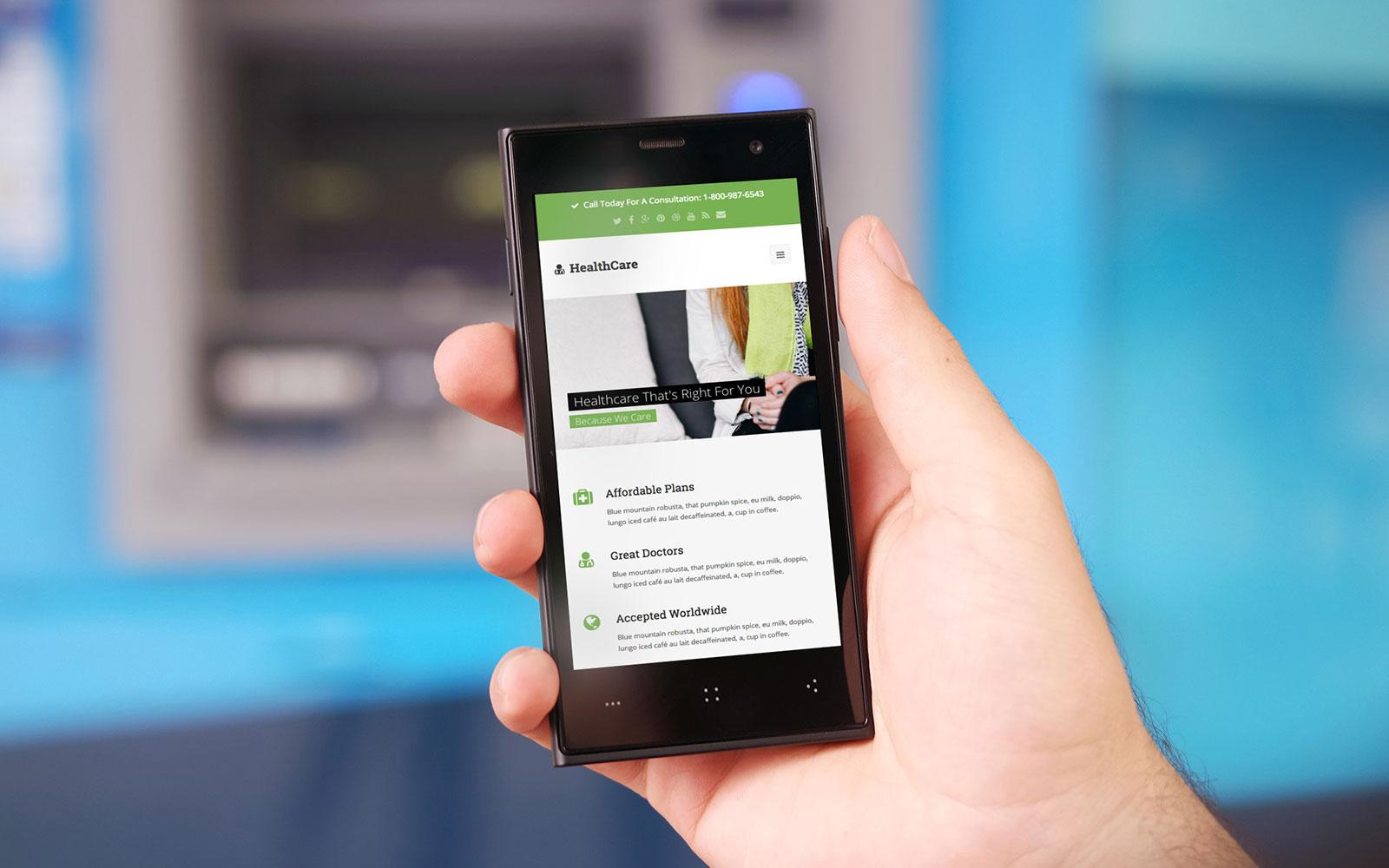 Healthcare Mobile Website