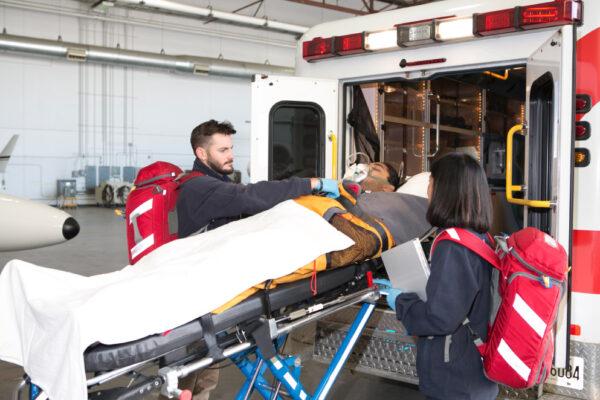 Fox Flight Patient Care Loading Ambulance