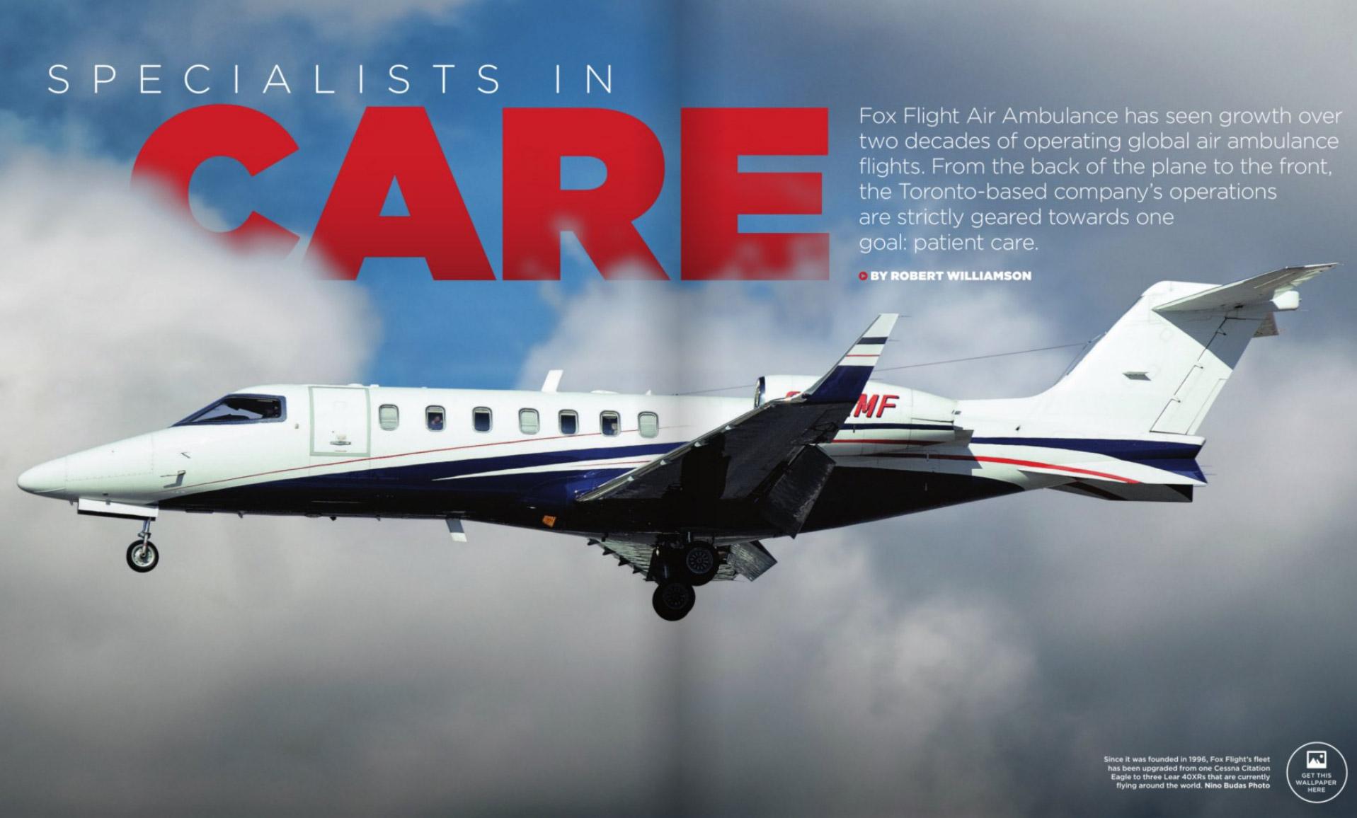 Fox Flight Featured in SKIES Magazine