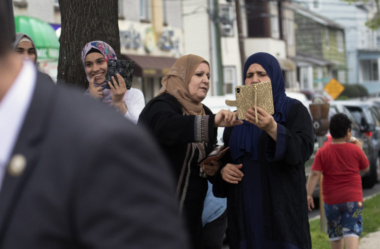 05-04-19  PATERSON, NJ: A group of older Muslim women gather in the tiny park on Main Street in the heart of the Middle Eastern community in South Paterson at the start of Ramadan.