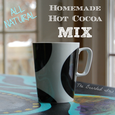 Homemade all natural hot cocoa mix by The Bearded Iris