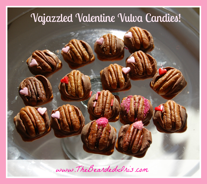 Vajazzled Valentine Vulva Candies by The Bearded Iris