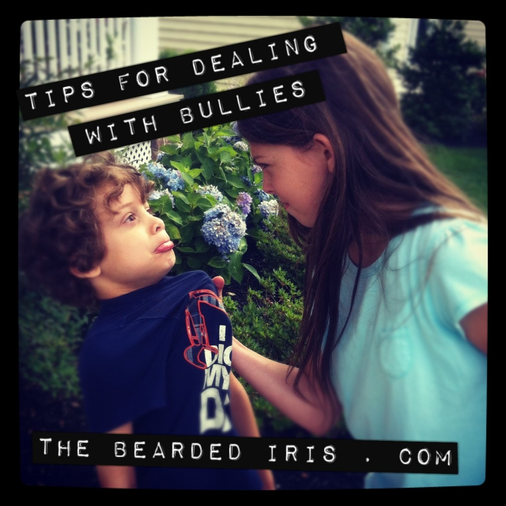 tips for dealing with bullies by the bearded iris
