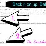 back up your wordpress blog part 2