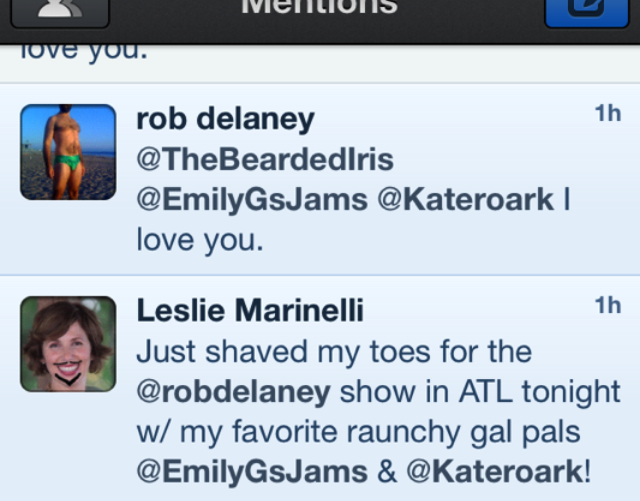 rob delaney loves the bearded iris on twitter