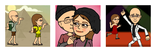 Courtney and Scott bitstrips collage