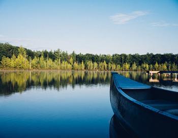 Canoe on the lake.
