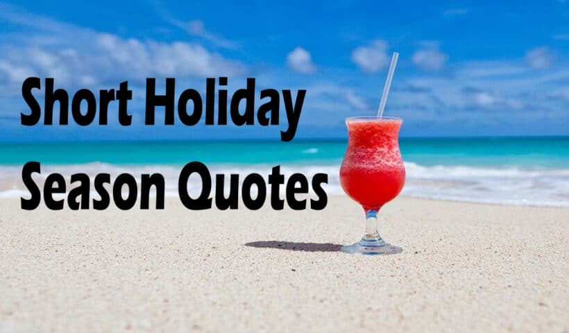 Short Holiday season quotes