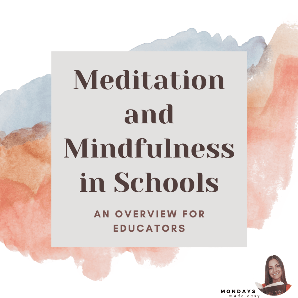 guided meditation and mindfulness activities for students in middle school and high school