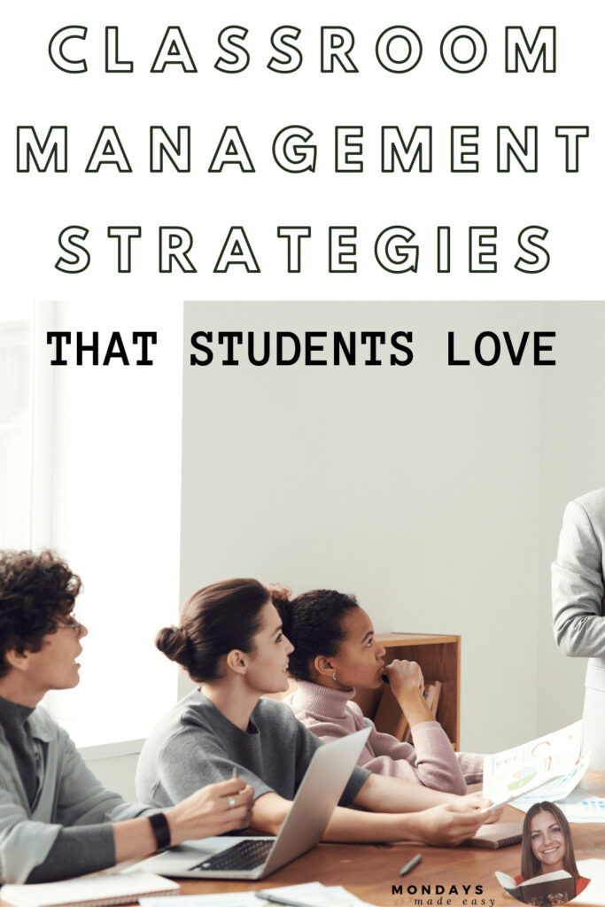 classroom management strategies and classroom management tips for middle school and high school classrooms