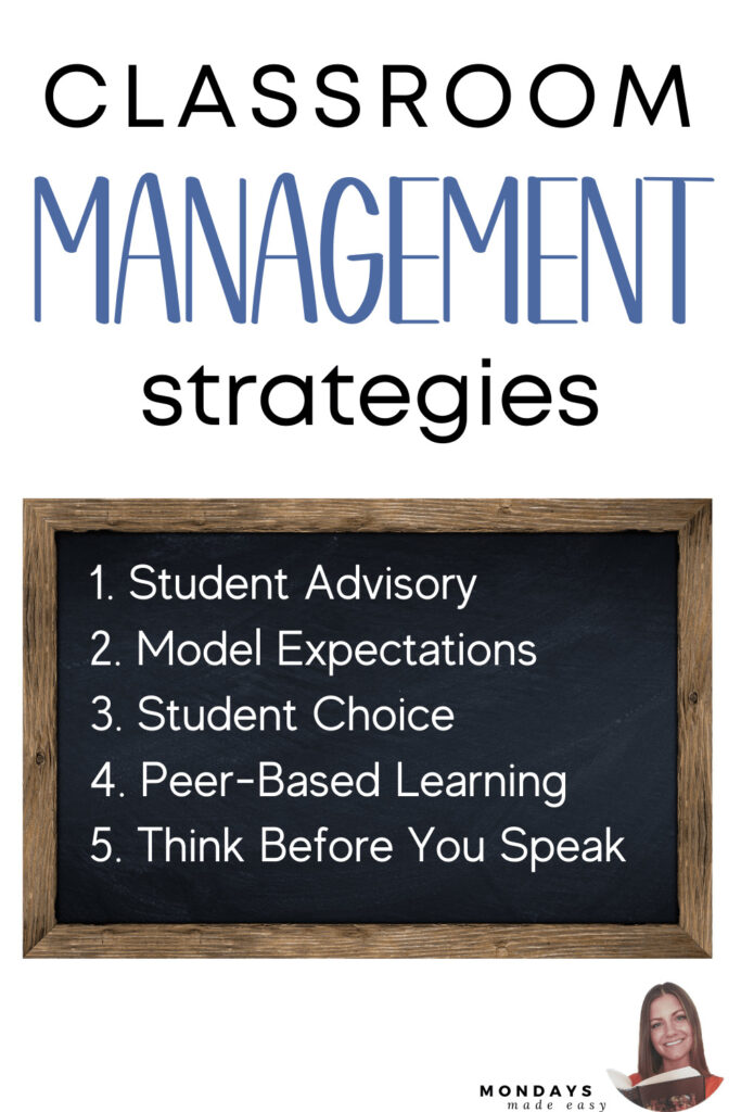 Student Advisory, Peer-based Learning, and other Classroom Management Strategies that work