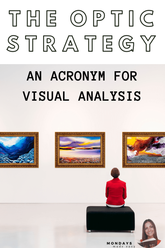 The OPTIC Strategy: An Acronym for Visual Analysis of Advertisements, Graphic Design, Paintings, Illustrations, and More