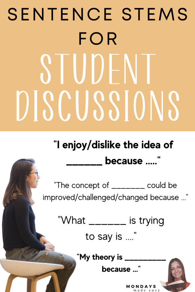 Sentence Starters for Student Discussions