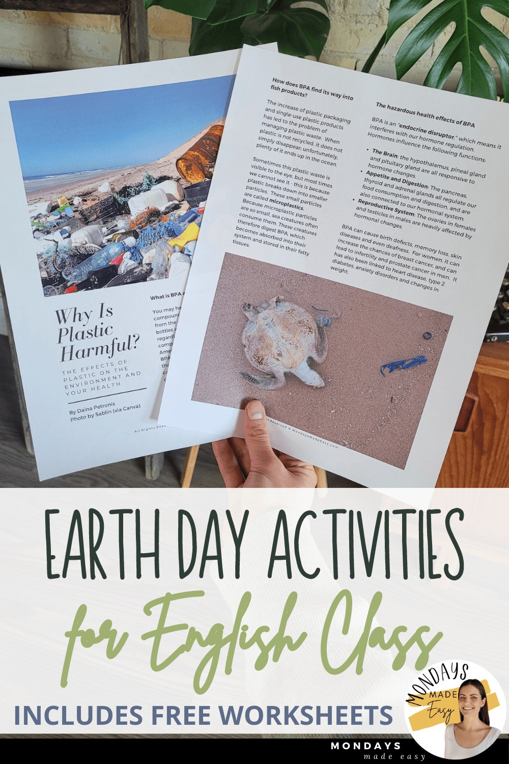 Free Earth Day Activities for English Class