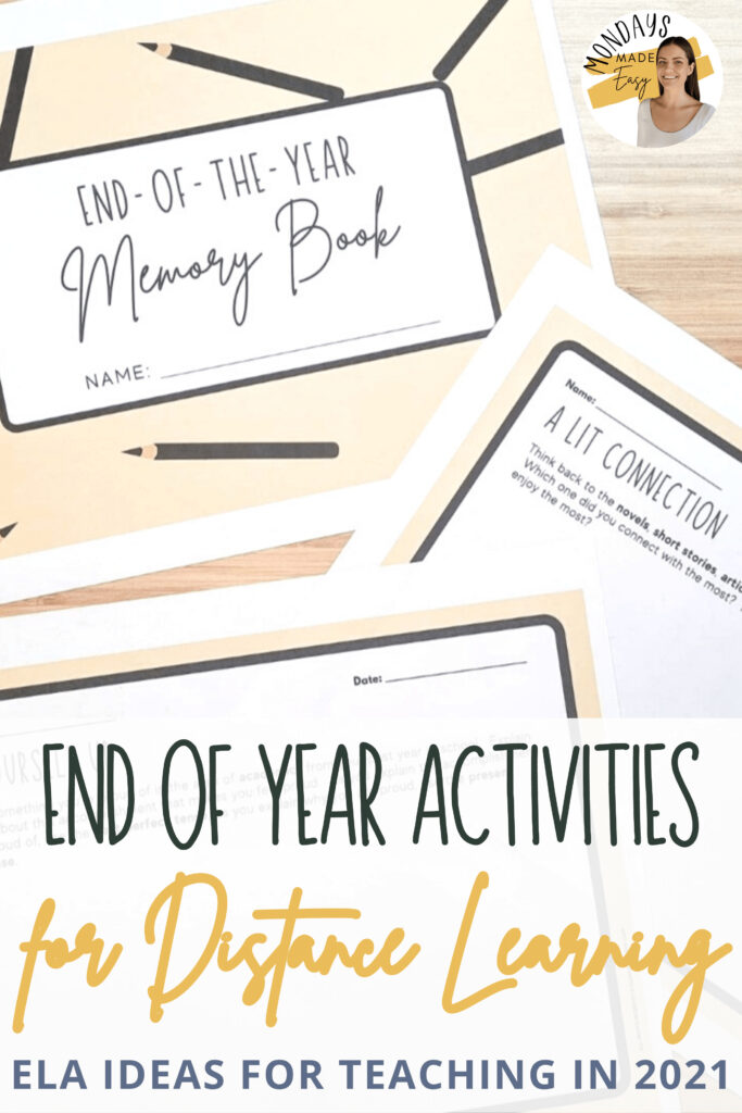 Looking for end of year activities for English Language Arts?  These ideas are suitable for virtual learning and in-person classrooms and will support middle school and high school students with integrating their experiences over the past school year.