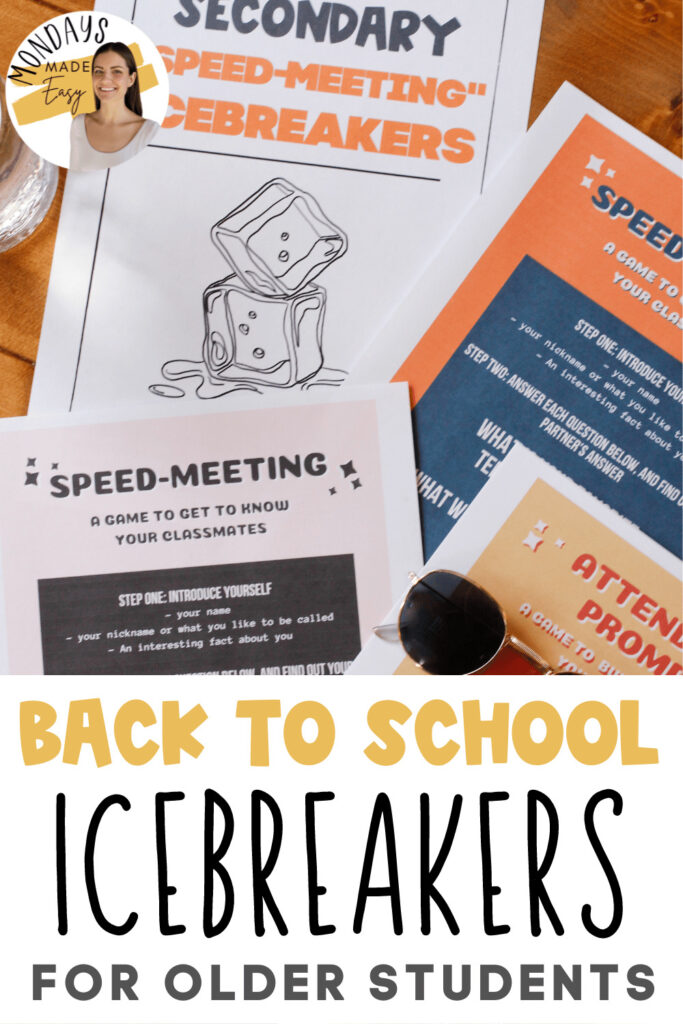 Back to School Icebreakers for High School Students