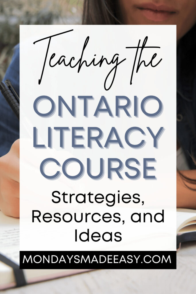 Teaching the Ontario Literacy Course (OLC):  Strategies, Resources, and Ideas for teaching OLC4O