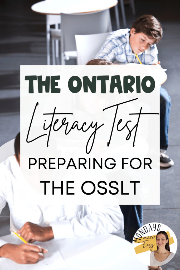 The Ontario Literacy Test: Preparing for the OSSLT
