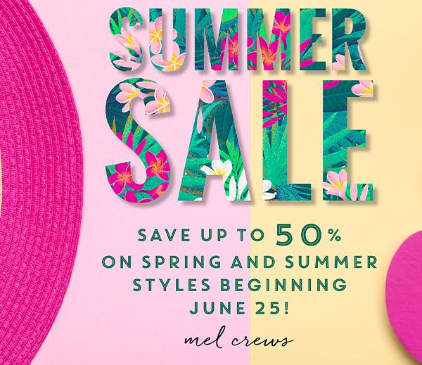 Summer Sale at Mel Crews