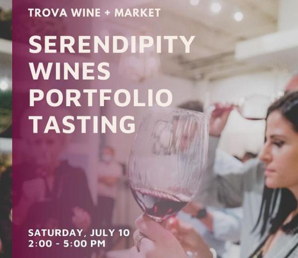Serendipity Wines Tasting at Trova Wine + Market
