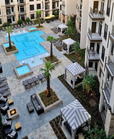 District 28, Pool Area - Ariel View
