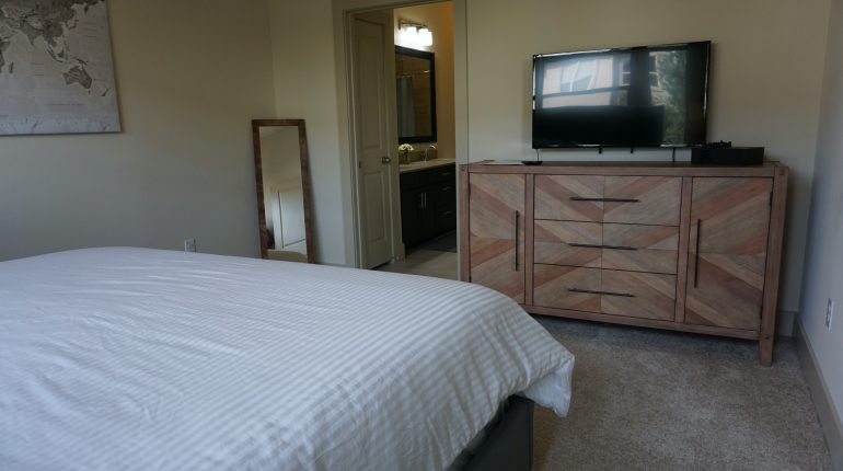 Master bedroom from the New York Design at Premier Patient Housing.