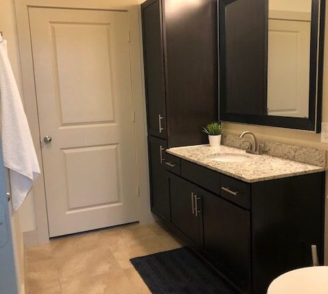 Master bathroom from the Florida Design at Premier Patient Housing.