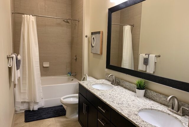 Full bathroom from the South Carolina Design at Premier Patient Housing.