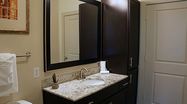 Master bathroom from the Alabama Design at Premier Patient Housing.