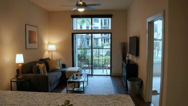 Living Room from the Alabama Design at Premier Patient Housing.