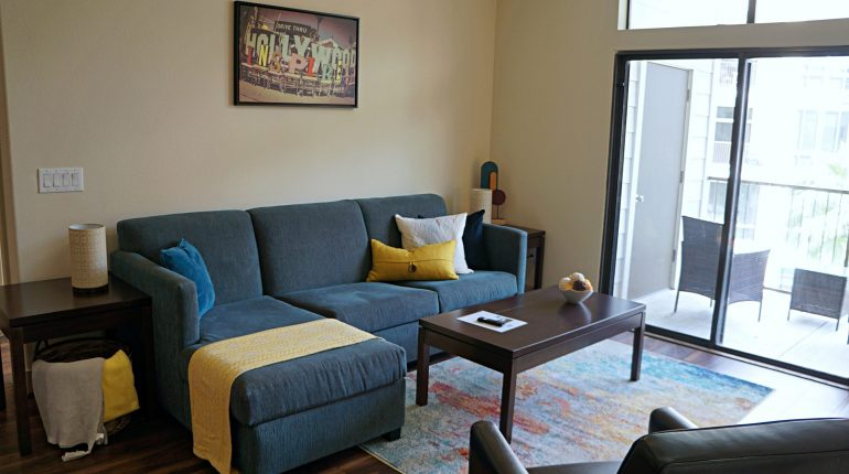 Living Room from the California Design at Premier Patient Housing.
