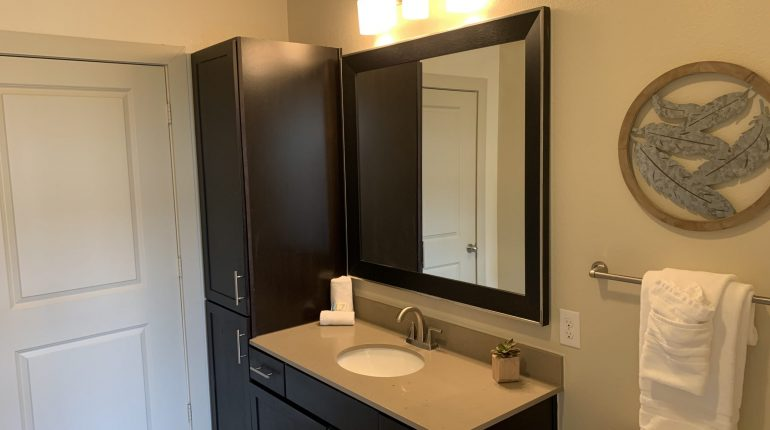 Master bathroom from the Montana Design at Premier Patient Housing.