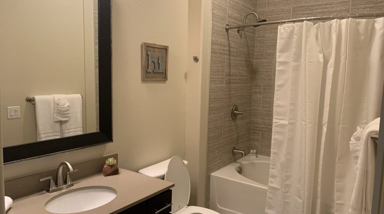 Full bathroom from the Montana Design at Premier Patient Housing.