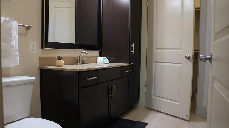 Master bathroom from the Ohio design at Premier Patient Housing.