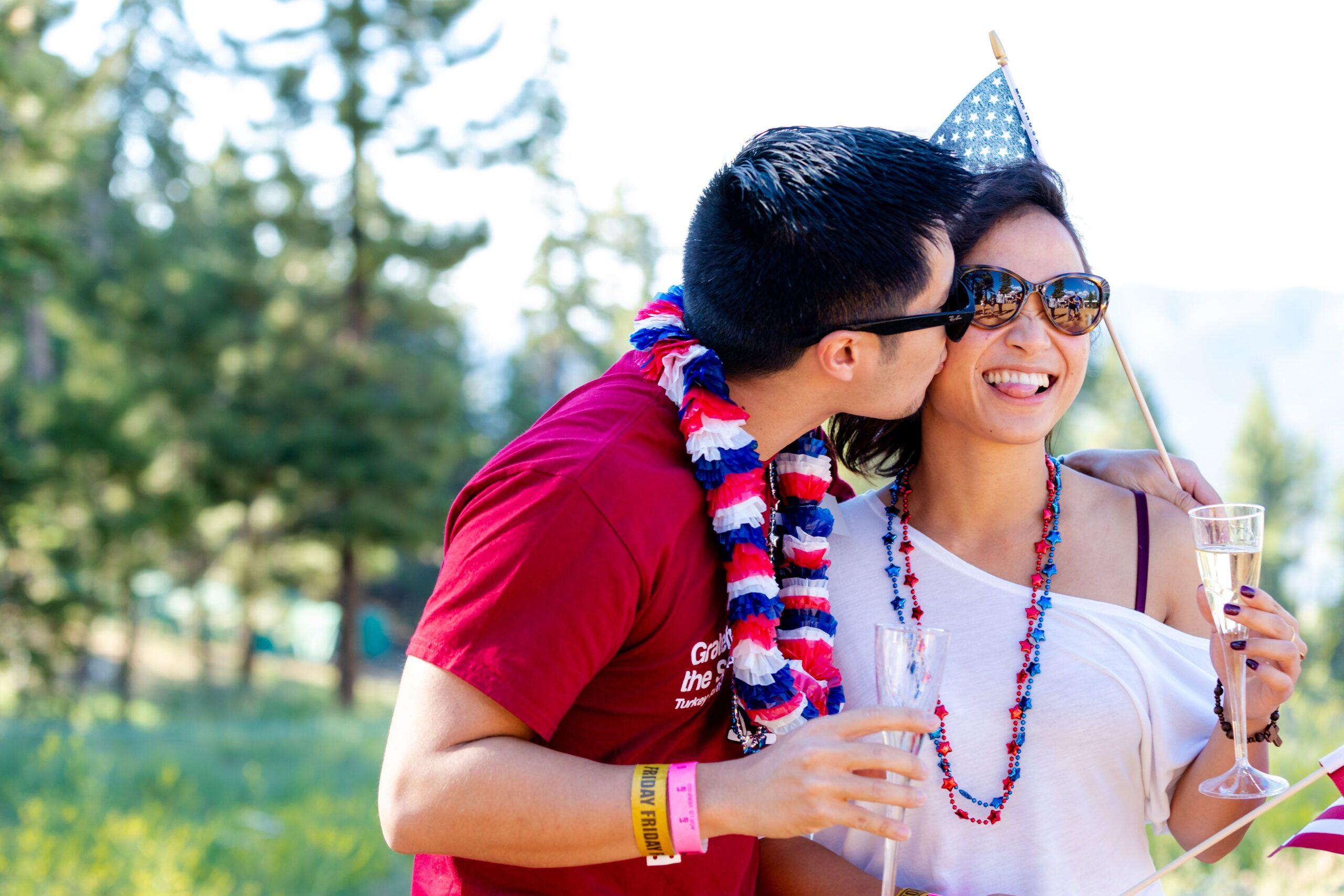 couple at July 4th Celebration