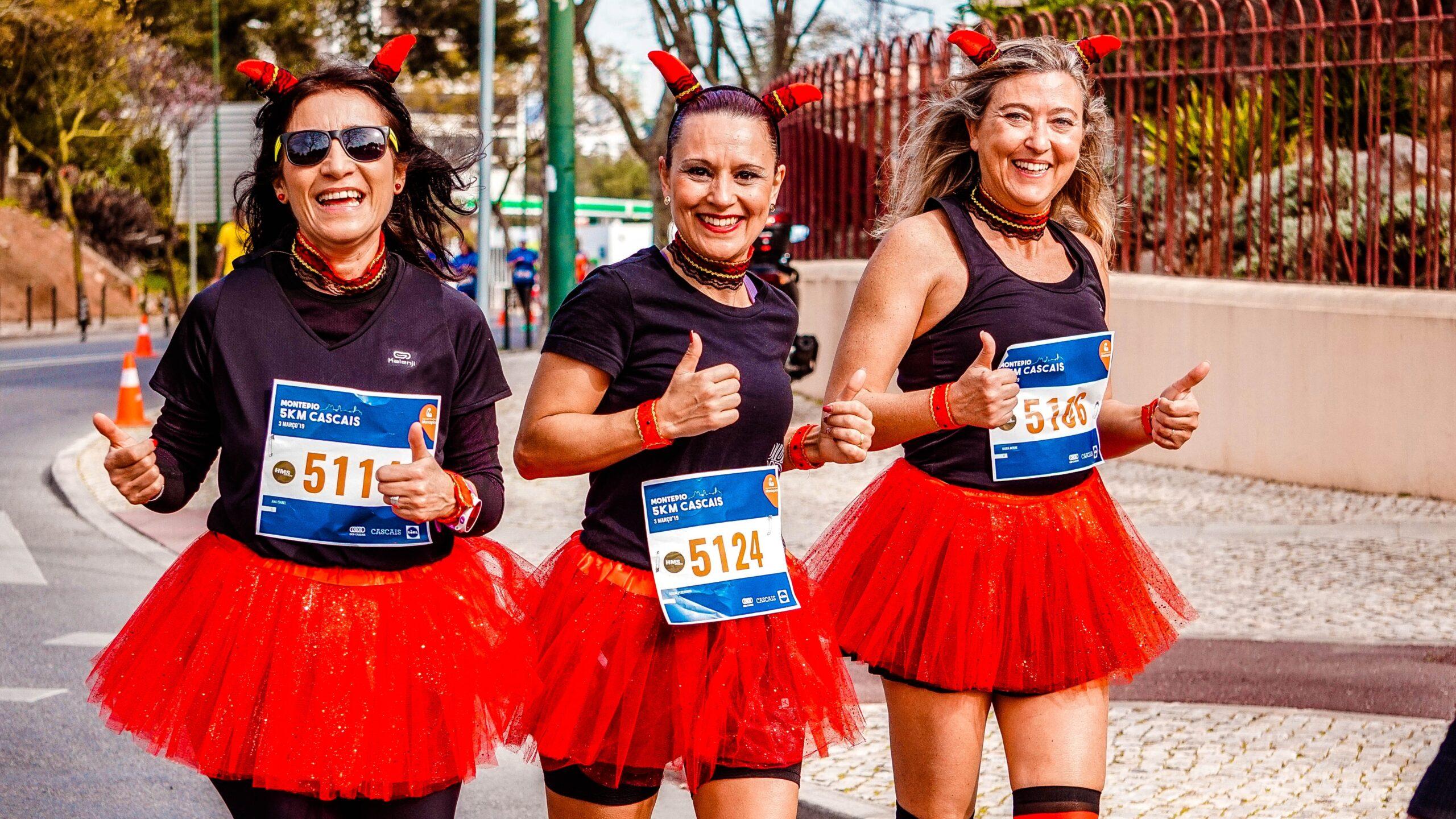 women walking in fundraising event