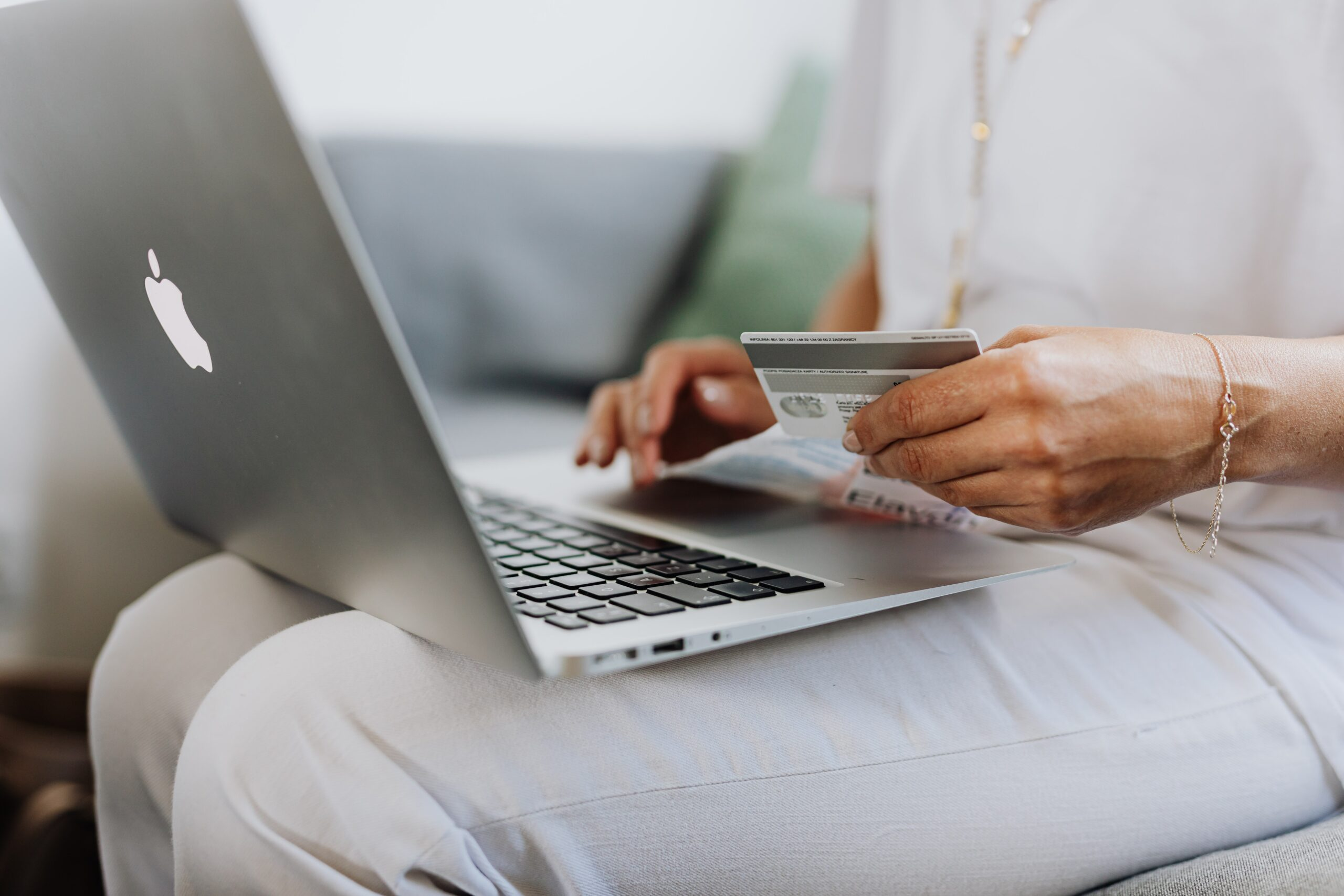 woman shopping online helps funds for cancer research