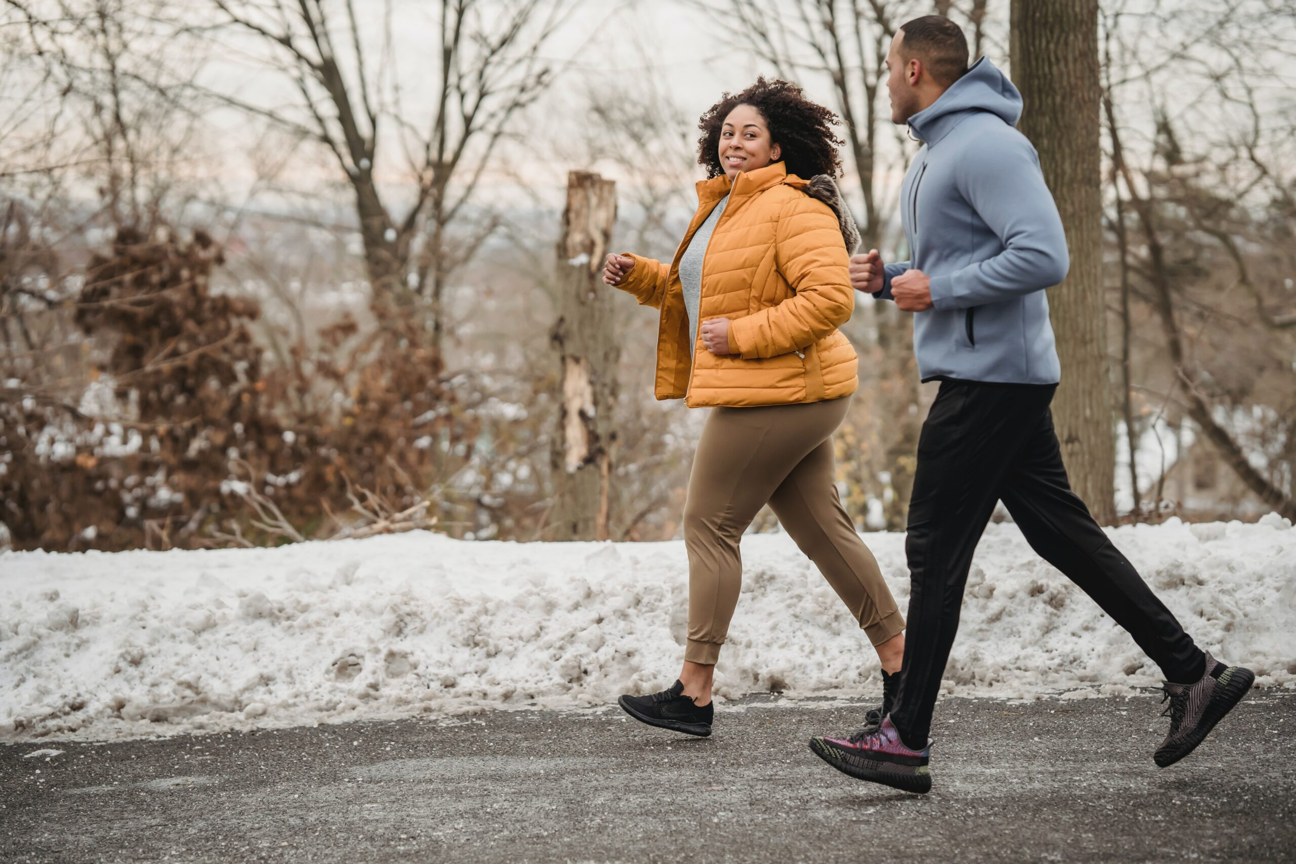 woman helping man get active for Men's Health Week