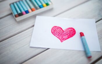 heart in crayon