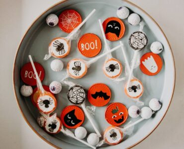 Halloween candy in dish