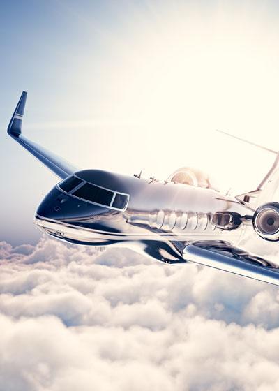 Plane Soaring through the Sky